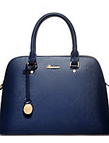 Women Tote PU All Seasons Formal Casual Event/Party Wedding Office & Career Shell Zipper Black Blue