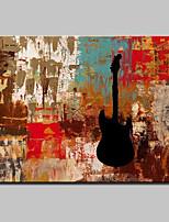 Ручная роспись Абстракция фантазия Горизонтальная,Modern Европейский стиль 1 панель Холст Hang-роспись маслом For Украшение дома