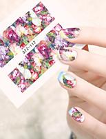 10pcs/set Nail Art Sticker Beautiful Flower Design Nail Water Transfer Decals Nail Beauty Tip STZ-112