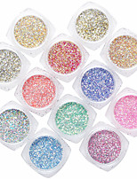 12PCS Nail Art Iridescence Hexagon The Onion Powder Small Sequins