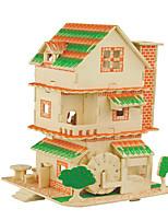 Пазлы Набор для творчества 3D пазлы Пазлы Строительные блоки Игрушки своими рукамиКвадратная Знаменитое здание Китайская архитектура
