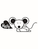Wall Stickers Wall Decals Style Lovely Mouse PVC Switch Stickers