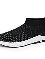 Men's Sneakers Spring Summer Fall Comfort Light Soles Tulle Outdoor Casual Flat Heel Walking Shoes Black Grey White Red