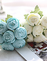1 Branch Polyester Plastic Lotus Tabletop Flower Artificial Flowers 15*5.5