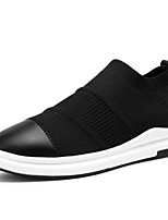 Men's Sneakers Spring Fall Comfort Light Soles Leather Tulle Outdoor Athletic Casual Flat Heel Walking Shoes