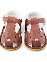 Kids' Sandals Summer Flower Girl Shoes First Walkers PU Dress Casual Flat Heel Animal Print