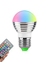 3W E26/E27 Lâmpada Redonda LED Giratória 1 LED de Alta Potência 270 lm RGB Regulável Controle Remoto V 1 pç