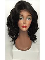חַם!! שיער בתולה ברזילאית קצרות פאות תחרה מלאות שיער אדם פאות 8-26 גל פאות תחרה מלאה עבור אישה עם שיער תינוק