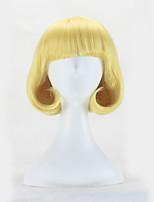 Vente chaude blonde couleur vague cheveux cheveux synthétiques perruques