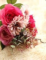 1 Une succursale Polyester Plastique Roses Fleur de Table Fleurs artificielles 34