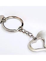 Key Chain Heart-Shaped Key Chain Silver Metal