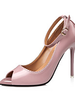 Women's Heels Spring Fall Comfort Leather Dress Stiletto Heel Buckle