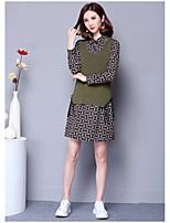Court Gilet Femme SortieCouleur Pleine Col Arrondi Sans Manches Coton Printemps Hiver Moyen Micro-élastique