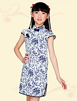 Girl's Going out Casual/Daily School Floral Dress,Acrylic Polyester Summer Sleeveless