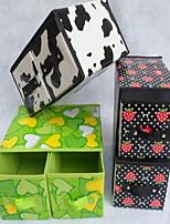 קופסאות אחסון יחידות אחסון לא ארוג עםמאפיין הוא עם מכסה , ל תכשיטים