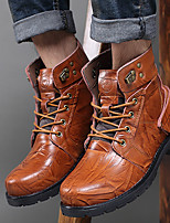 Men's Boots Summer T-Strap Rubber Casual Low Heel