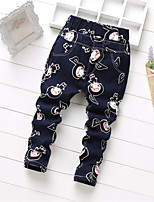 Girls' Casual/Daily Geometric Pants-Cotton Spring