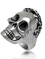 Ring Punk Titanium Steel Skull / Skeleton Silver Jewelry For Daily 1pc