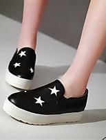 -Для женщин-Повседневный-Полиуретан-На низком каблуке-Удобная обувь-Туфли на шнуровке