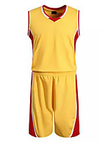 Ensemble de Vêtements/Tenus(Jaune) -Basket-ball-Sans manche-Homme