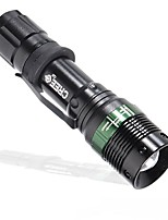 LED Flashlights/Torch LED Lumens Mode 18650 AAA Easy Carrying Camping/Hiking/Caving Everyday Use Outdoor Aluminum alloy