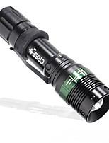 LED Taschenlampen LED Lumen Modus 18650 AAA Einfach zu tragen Camping / Wandern / Erkundungen Für den täglichen Einsatz NaturAluminium