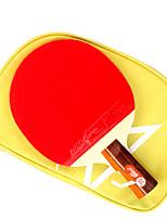 2 étoiles Ping Pang/Tennis de table Raquettes Ping Pang Bois Manche Court Boutons Intérieur Utilisation Exercice Sport de détente-#
