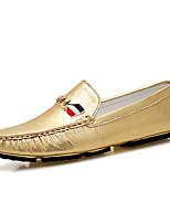 Men's Loafers & Slip-Ons Moccasin Microfibre Spring Summer Outdoor Office & Career Casual Flat Heel Sliver Gold Flat