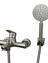 Contemporary Antique Art Deco/Retro Tub And Shower Widespread with  Ceramic Valve Single Handle Two Holes for  Stainless Steel , Bathtub