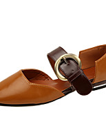 Sandals Summer D'Orsay & Two-Piece Leatherette Outdoor Party & Evening Casual Flat Heel Buckle Walking