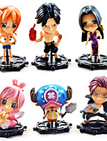Anime Action Figures Inspired by One Piece Boa Hancock PVC 10 CM Model Toys Doll Toy Akakami no shankusu 6PCS