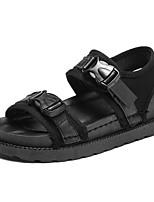Women's Sandals Summer Mary Jane Leatherette Outdoor Casual Flat Heel Low Heel Buckle Walking