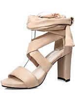 Women's Sandals Spring Summer Comfort Suede Dress Chunky Heel