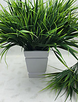 1Pcs   7-Fork Green Grass Artificial Plants For Plastic Flowers Household Store Rustic Decoration