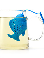 The Silicone Fish Make Tea Fashion Articles For Daily Use Creative Daily Lovely Tea Strainer