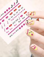 10pcs/set Autocollant d'art de clou Autocollants de transfert de l'eau Maquillage cosmétique Nail Art Design