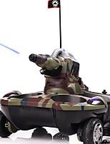 танк Гоночное судно Коллекторный электромотор Машинка на радиоуправлении 2.4G Требуется некоторая сборка танк Пульт управления/Передатчик