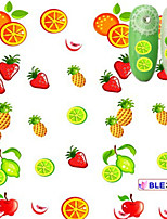 5pcs/set Hot Sale Fashion Summer Fruit Nail Art Water Transfer Decals Lovely Apple Pineapple Orange Lemon Strawberry Design Nail DIY Sticker BLE376