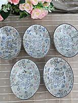 Arika Flowery Styled Porcelain Saucer Dinnerware