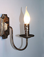 Lampe murale antique bougie forme simple couloir balcon lampe applique murale