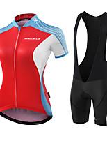 MALCIKLO® Fahrradtrikot mit Trägerhosen Damen Kurze Ärmel FahhradAtmungsaktiv Anatomisches Design Feuchtigkeitsdurchlässigkeit YKK