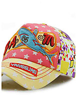 Children's Tide Cool Comfortable And Cool  Embroidery Cartoon  Cotton Duck Tongue Shade Baseball Cap
