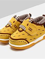 Желтый-Девочки-Для прогулок Повседневный-Полотно-На плоской подошве-Удобная обувь-Кеды
