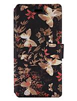 Для Бумажник для карт со стендом Флип С узором Кейс для Чехол Кейс для Бабочка Твердый Искусственная кожа для HuaweiHuawei P9 Lite Huawei