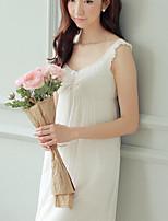 Jarretière Vêtement de nuit Femme,Push-up Couleur Pleine-Mince Modal Aux femmes
