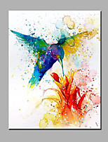 Hand-Painted Animal The Foraging Birds  Ready To Hang  Modern One Panel Canvas Oil Painting For Home Decoration