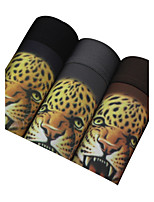 3Pcs/Lot Men's Fashion Sexy Print Animal Print Boxers Underwear Cotton Modal Panties