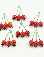 20 Pcs Mini Artificial Plastic Pomegranate Fruit Vegetable Small Cherry Bouquet Stamen Wedding Home Flower Decorative