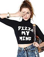 Оформление 1179 евро пицца hilum мой мозг письма печатные футболки с высоким воротником рукава