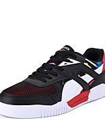 Men's Sneakers Spring Summer Fall Winter Comfort PU Tulle Outdoor Athletic Casual Split Joint Lace-up
